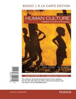 Book Human Culture, Books A La Carte Edition by Carol R. Ember