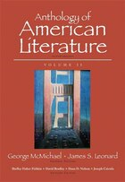 Anthology Of American Literature, Volume Ii Plus Myliteraturelab --access Card Package