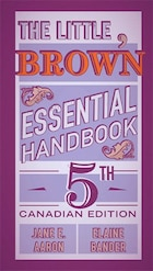 The Little, Brown Essential Handbook, Fifth Canadian Edition Plus Mywritinglab With Pearson Etext…