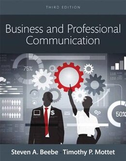 Book Business And Professional Communication,  Books A La Carte by Steven A. Beebe