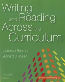 Book Writing And Reading Across The Curriculum by Laurence M. Behrens
