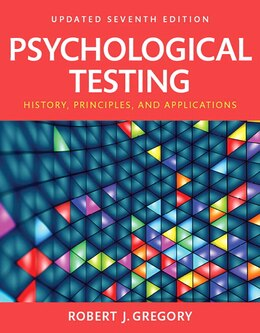 Book Psychological Testing: History, Principles And Applications, Books A La Carte by Robert J. Gregory