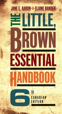 Book The Little, Brown Essential Handbook, Sixth Canadian Edition by Jane E. Aaron