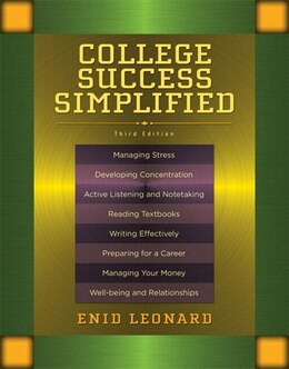 Book College Success Simplified Plus New Mystudentsuccesslab -- Access Card Package by Enid Leonard