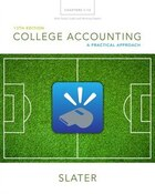 College Accounting Chapters 1-12 With Study Guide And Working Papers Plus Myaccountinglab With…