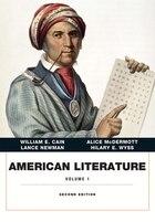 American Literature, Volume 1 Plus New Myliteraturelab -- Access Card Package
