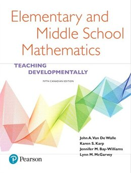 Book Elementary And Middle School Mathematics: Teaching Developmentally, Fifth Canadian Edition by John A. Van De Walle