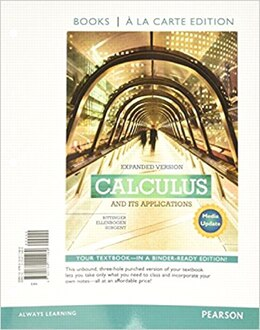 Book Calculus And Its Applications Expanded Version Media Update Books A La Carte Edition by Marvin L. Bittinger