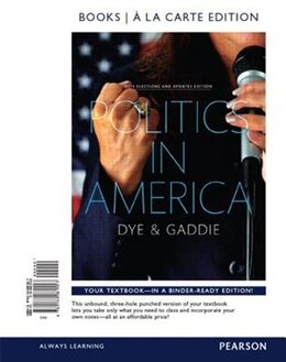 Book Politics In America, 2014 Elections Update, Books A La Carte Edition Plus New Mypoliscilab For… by Thomas R. Dye