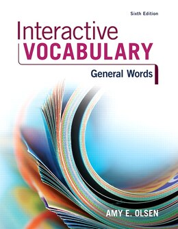 Book Interactive Vocabulary by Amy E. Olsen