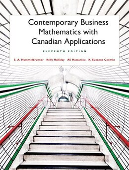 Book Contemporary Business Mathematics With Canadian Applications by S. A. Hummelbrunner