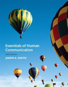 Book Essentials Of Human Communication by Joseph A. Devito