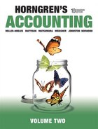 Horngren's Accounting, Volume 2, Tenth Canadian Edition Plus Myaccountinglab With Pearson Etext…