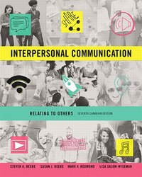 Interpersonal Communication: Relating To Others, Seventh Canadian Edition