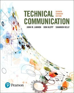Book Technical Communications, Seventh Canadian Edition by John M. Lannon