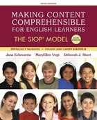 Making Content Comprehensible For English Learners: The Siop Model, With Enhanced Pearson Etext…