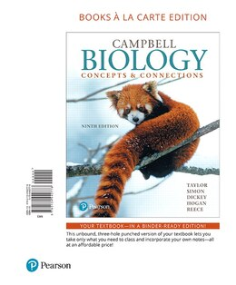 Book Campbell Biology: Concepts & Connections, Books A La Carte Edition by Martha R. Taylor