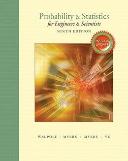 Book Probability & Statistics For Engineers & Scientists, Mystatlab Update With Mystatlab Plus Pearson… by Ronald E. Walpole