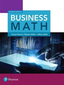 Book Business Math by Cheryl Cleaves