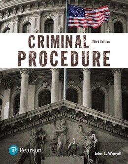 Book Criminal Procedure (justice Series) by John Worrall