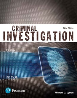 Book Criminal Investigation (justice Series) by Michael D Lyman