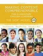 Making Content Comprehensible For Elementary English Learners: The Siop Model, With Enhanced…