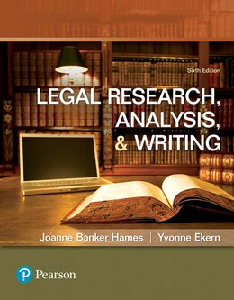 Book Legal Research, Analysis, And Writing by Joanne B Hames