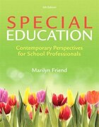 Special Education: Contemporary Perspectives For School Professionals With Enhanced Pearson Etext…