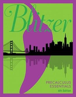 Book Precalculus Essentials by Robert F. Blitzer