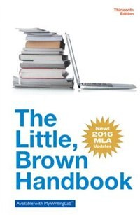 Book The Little Brown Handbook, Mla Update Edition by H. Ramsey Fowler