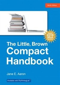 Book The Little, Brown Compact Handbook, Mla Update Edition by Jane E. Aaron