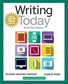 Book Writing Today, Brief Edition, Mla Update Edition by Richard Johnson-sheehan