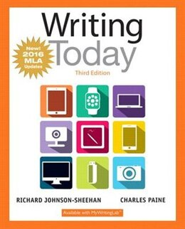 Book Writing Today, Mla Update Edition by Richard Johnson-sheehan