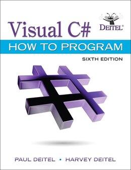 Book Visual C# How To Program by Paul Deitel