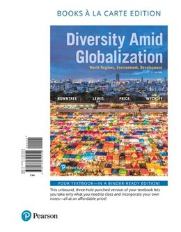 Book Diversity Amid Globalization: World Regions, Environment, Development, Books A La Carte Edition by Lester Rowntree