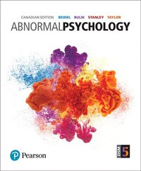 Abnormal Psychology, First Canadian Edition