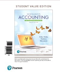Horngren's Accounting: The Managerial Chapters, Student Value Edition Plus Myaccountinglab With…