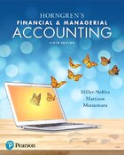 Horngren's Financial & Managerial Accounting Plus Myaccountinglab With Pearson Etext -- Access Card…