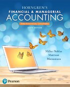 Horngren's Financial & Managerial Accounting, The Financial Chapters Plus Myaccountinglab With…