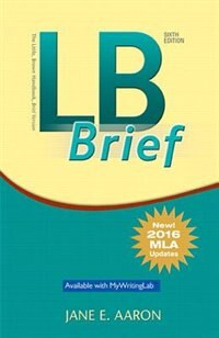 Book Lb Brief [untabbed Version] The Little Brown Handbook, Brief Version, Mla Update by Jane E. Aaron