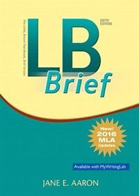 Book Lb Brief [tabbed Version] The Little, Brown Handbook, Brief Version, Mla Update by Jane E. Aaron