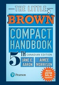 The Little, Brown Compact Handbook, Fifth Canadian Edition (mla Update)