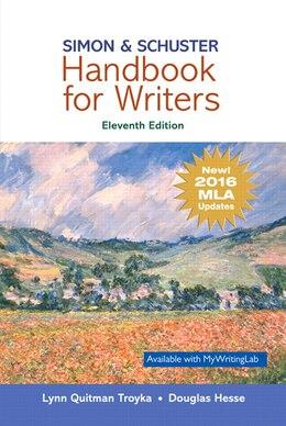 Book Simon & Schuster Handbook For Writers, Mla Update by Lynn Quitman Troyka
