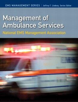 Book Management Of Ambulance Services by . T Nemsma,  Inc