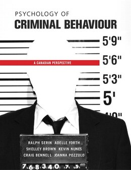 Book Psychology of Criminal Behaviour: A Canadian Perspective by Ralph Serin