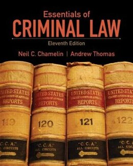 Book Essentials of Criminal Law by Neil E. Chamelin