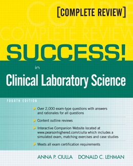 Book SUCCESS! in Clinical Laboratory Science by Anna Ciulla