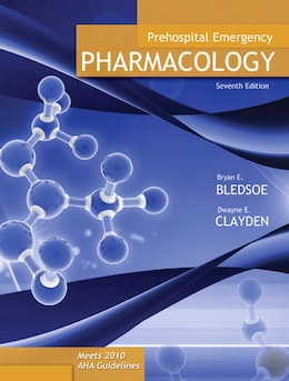 Book Prehospital Emergency Pharmacology by Bryan E. Bledsoe