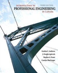 Introduction to Professional Engineering in Canada, Third Canadian Edition