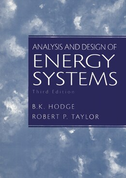 Book Analysis and Design of Energy Systems by B.k. Hodge
